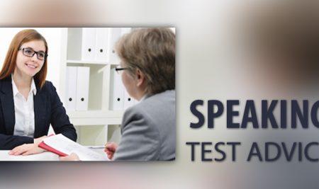 SPEAKING TEST ADVICE